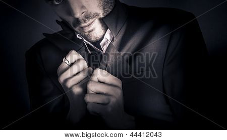 Stylish Man Wearing Mens Fashion Accessories