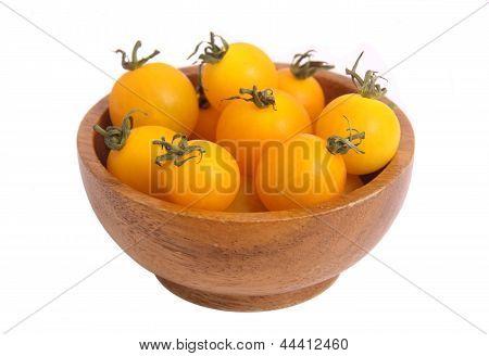 yellow minature tomatoes