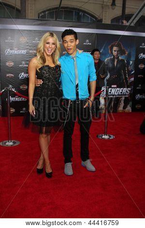 LOS ANGELES - APR 11:  Chelsie Hightower, Roshon Fegan arrives at