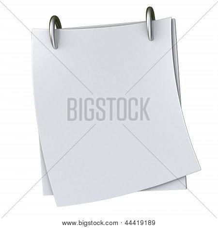 Blank paper block, 3d