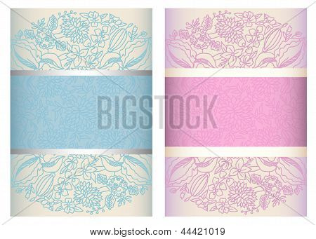 Invitation Cards Template Vertical