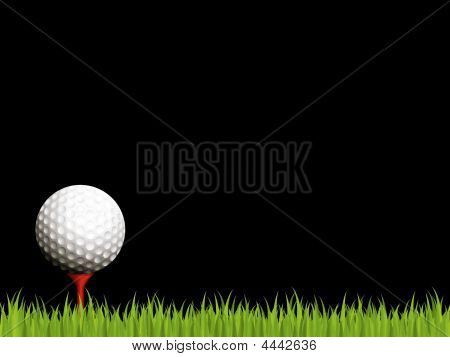 Illuminated Golf Scene On Black Background