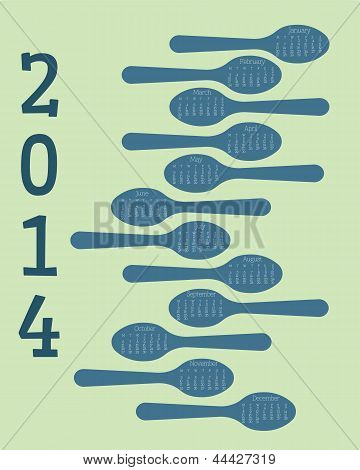 2014 spoon themed calendar