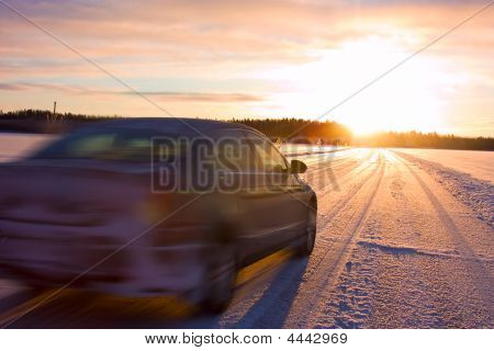 Car On A Ice Road