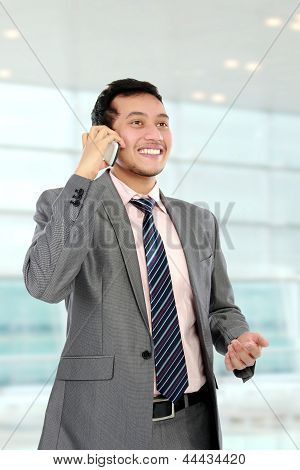 Busy Young Business Man
