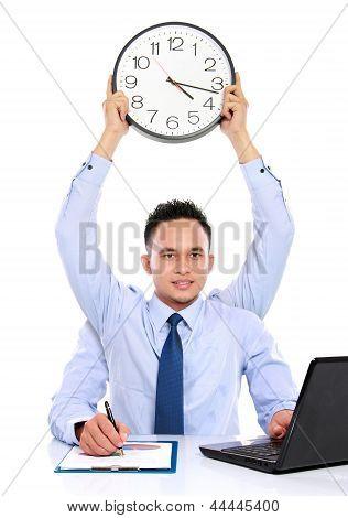 Businessman Dateline Concept