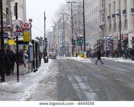 London Oxford Street Snow
