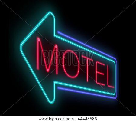 Motel Sign.