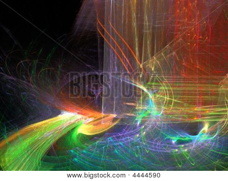 Abstract background. Multicolor palette. Raster fractal graphics. poster