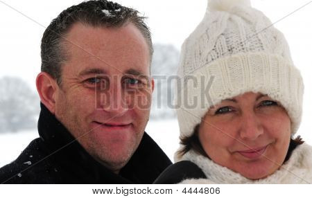 Ouple In The Snow