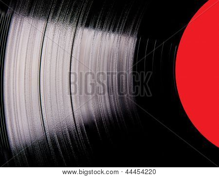 Vinyl disc close-up