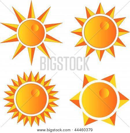 Sun Set With Sharp Rays