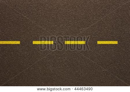 Photo of Asphalt - Single dashed line (Texture)