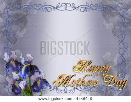 Happy Mothers Day Border Irises