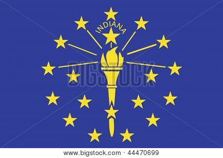 Flag of the American State of Indiana
