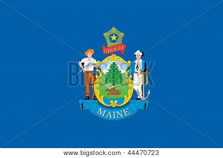 Flag of the American State of Maine