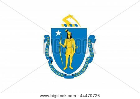 Flag of the American State of Massachusetts