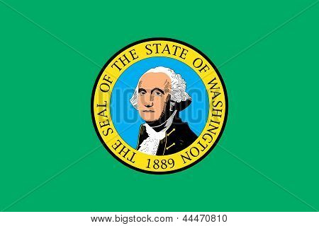 Flag of the American State of Washington