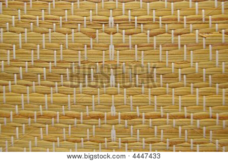 Traditional Straw Mat Texture