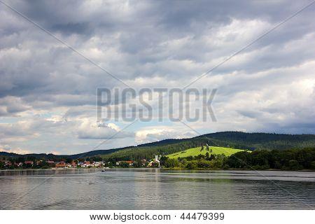 Frymburk At Lipno Lake In Czech Republic.