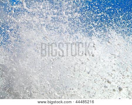 Water Splashing Over Blue Sky