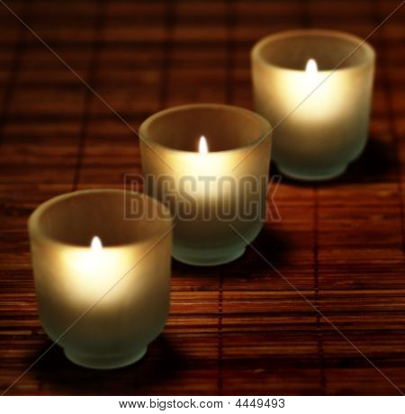 Candles And Bamboo