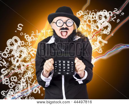 Businessman Showing Financial Investment Gain