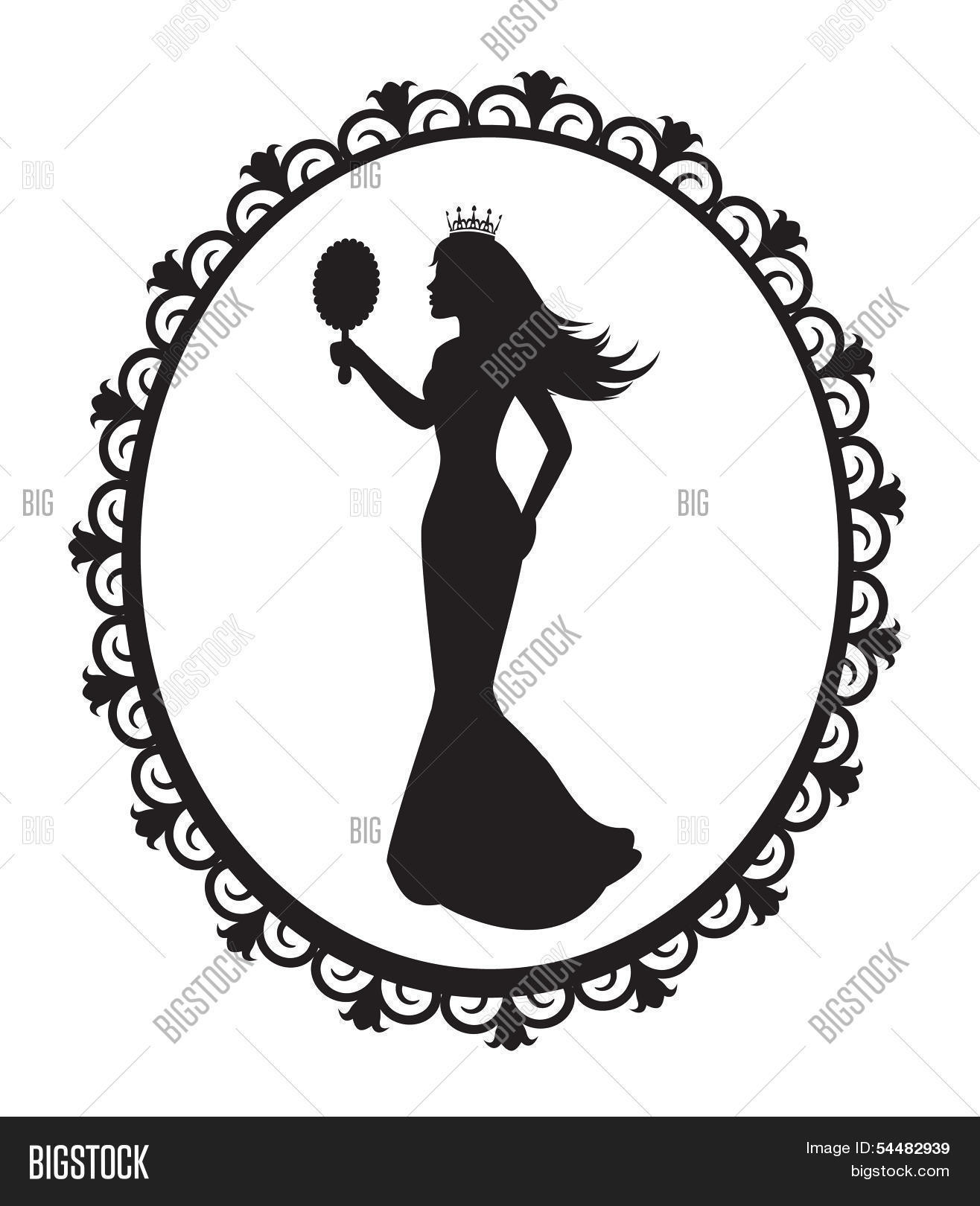 princess silhouette vector photo free trial bigstock
