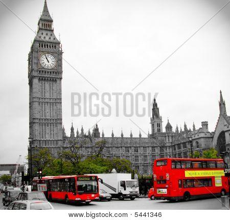 London Big Ben Red Bus2
