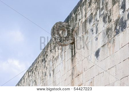 Goal In The Ball Court At Chichen Itza, Mexico