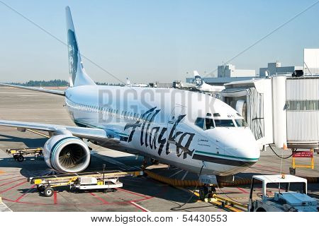 Plane Ready To Boarding In Seattle-tacoma International Airport