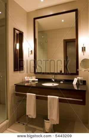 Elegant Hotel Or Apartment Bathroom