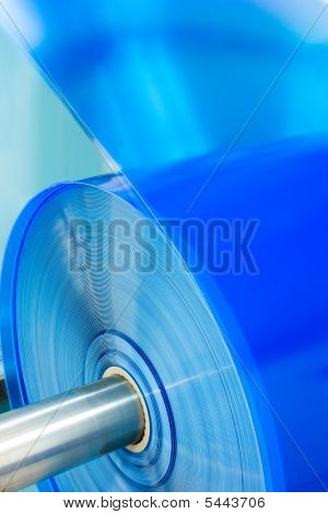 Packaging Machine Plastic Roll Close-up