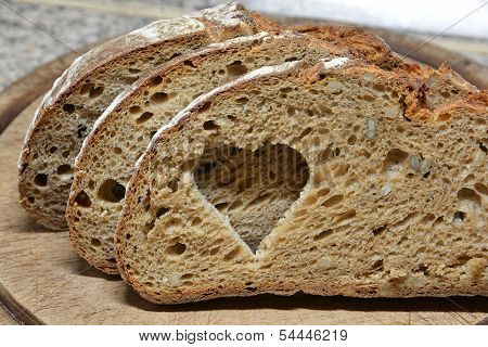 fresh crusty bread for a healthy diet