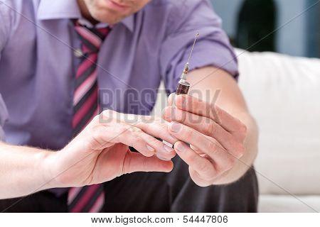 Syringe Of Illicit Drugs