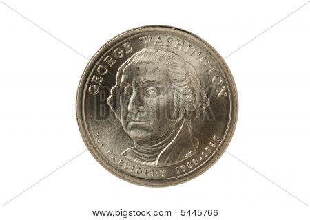 Washington Dollar With Clipping Path