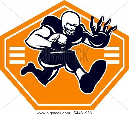 American Football Running Back Stiff Arm