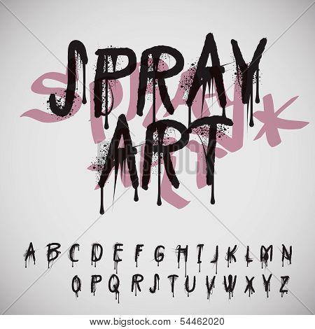 Graffiti splash alphabet