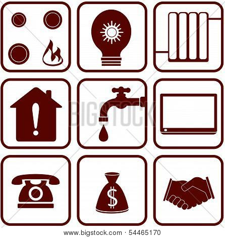 home appliance objects set