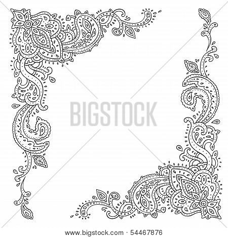 Paisley. Ethnic ornament.