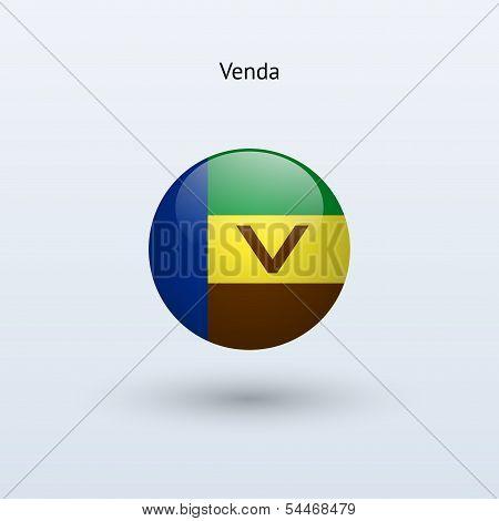 Venda round flag. Vector illustration.
