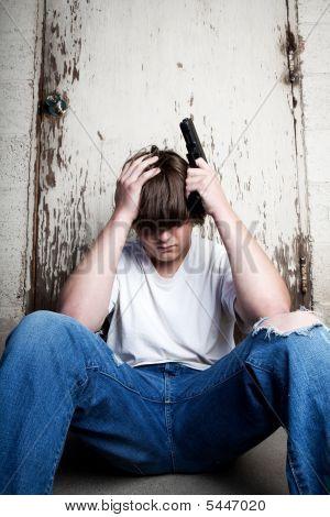 Depression - Teen With Handgun