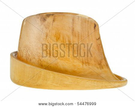 Side View Of Linden Wooden Hat Block