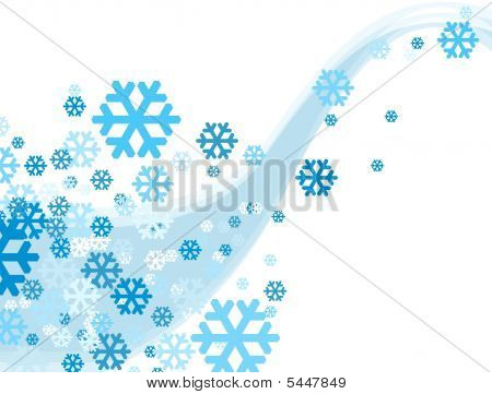 Christmas Celebration Snowflake Falling