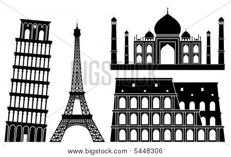 Illustrations Of World's Famous Places (set 1).