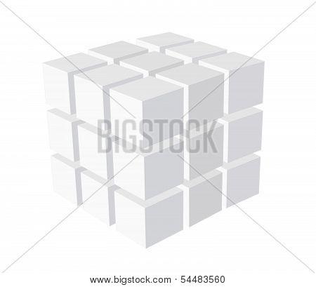 Cube Logo Business Illustration Idea