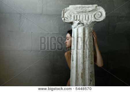 Woman With Column