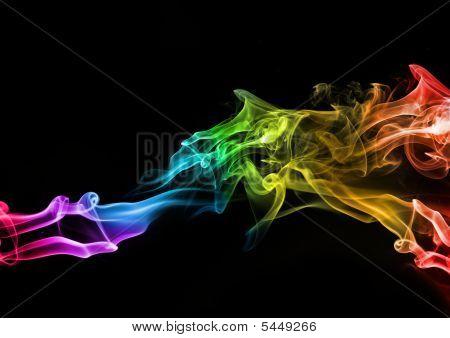 Humo color abstracto