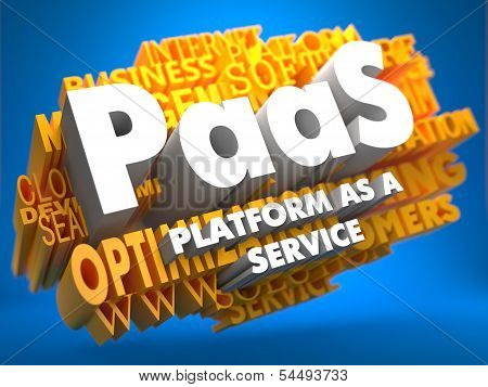 PAAS. Wordcloud Concept.