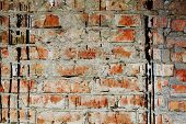 Ancient background. The ancient dirty brick wall poster